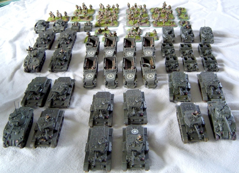 British Armoured Squadron with Support