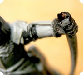 Bow repair - close up